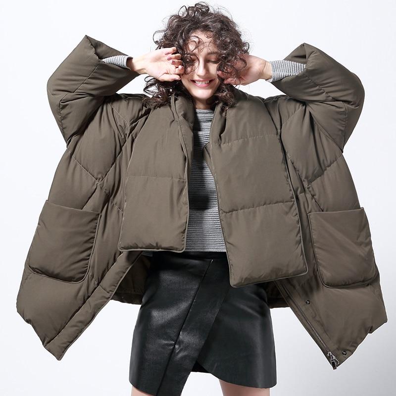 Moda Negro Costura Sólido Jojx Color Parka Tricolor Abrigo Acolchado Chaqueta verde Corto Militar Invierno gris Mujeres 2018 Streetwear rxWInx6zq