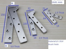 "8PCS/LOT 150mm(6"") Stainless steel Inset Door Pivot Hinge Knife Hinges Cabinet Cupboard"