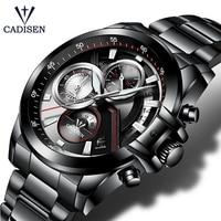 CADISEN 2018 Watch Men Top Brand Luxury Military Army Sports Casual Waterproof Mens Watches Quartz Stainless Steel Wristwatch