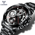 CADISEN 2019 Watch Men Top Brand Luxury Military Army Sports Casual Waterproof Mens Watches Quartz Stainless Steel Wristwatch