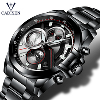 CADISEN 2019 Watch Men Top Brand Luxury Military Army Sports Casual Waterproof Mens Watches Quartz Stainless Steel Wristwatch