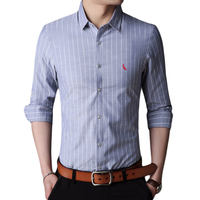 Men Shirt Business Casual Shirts 2018 New Arrival Reserva Camisas Printed Striped Plaid Shirt Brand Clothing