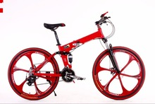High Quality Mountain bike 24 3×8 speed double damping double disc brake folding bike 26 inch Suspension Man Bicycle 26″