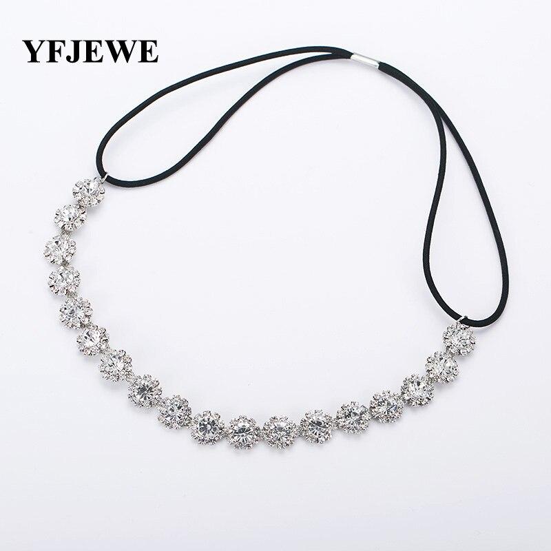 Yfjewe moda Bisutería para pelo mujeres novia elegante cristal austríaco  boda Accesorios de pelo hairbands Mujeres Partido regalo   h028 240649c4852