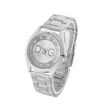 лучшая цена Zegarki damskie Women Watch Brand Stainless Steel Casual Quartz Watches Women Fashion Simple Wristwatches Men Business Clock