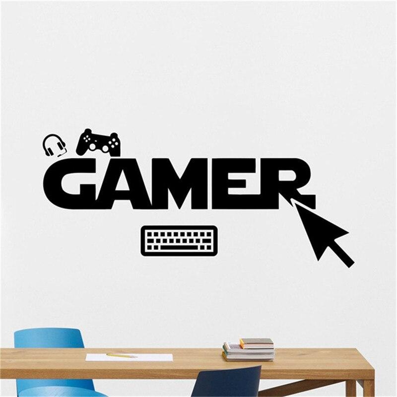 Gamer Gamepads Wall Decal Gaming Joystick Gamepad Home Decor Video Game Wall Sticker Video Game Wall
