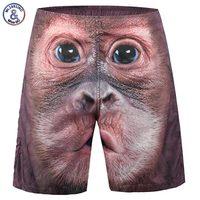 Mr 1991INC New Fashion Men S Beach Shorts Print Monkey Face 3d Shorts Casual Short Pants