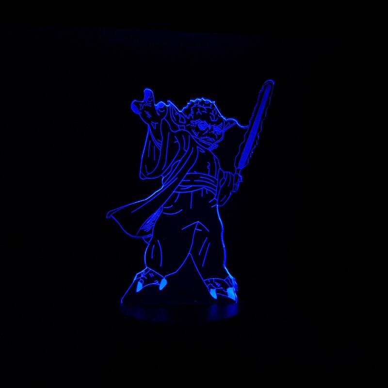 Luzes da Noite guerreiro espada multicolor noite mesa Lâmpadas Incluídas : Sim
