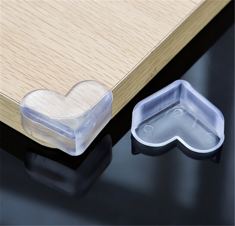 Kitchen Shelf Edge Protectors: 4pcs Children Protection Baby Safety Products Glass Table