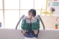 A pair 8x11 Anime My Hero Academia Katsuki Bakugou Wrist Weapon Soft Pillows Stuffed Plush Toys Doll Cosplay Costume Prop Gift