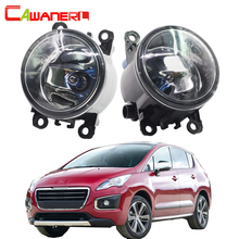 Cawanerl For Peugeot 3008 MPV 2009 2013 H11 100W Car Light Accessories Halogen Fog Light Daytime