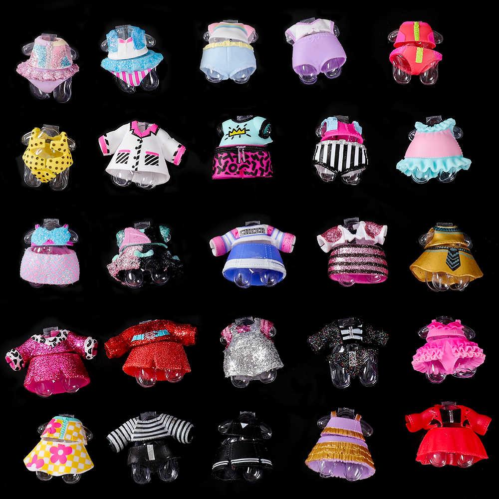 1 pc ต้นฉบับเสื้อผ้าสำหรับ lol series 3 4 5 อุปกรณ์ตุ๊กตาตุ๊กตา DIY ตุ๊กตาชุดเสื้อผ้าที่แตกต่างกันของเล่นสำหรับเด็กของเล่นเด็ก
