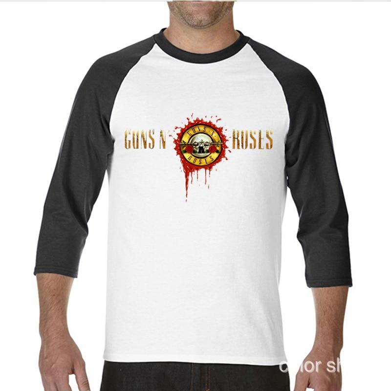 2017 Hot Sprzedaży Śmieszne Gun n Roses funny Długo raglan rękawa T Koszula Koszulek mężczyźni