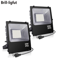 AC85 265V 20W 30W 50W 100W LED Flood Light Waterproof IP65 Reflector Floodlights Lamp Spot Light Outdoor Garden Wall Lamp
