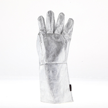 Quality tinfoil security working gloves strengthened palm full cotton material lining fire-fighting defending warmth insulated