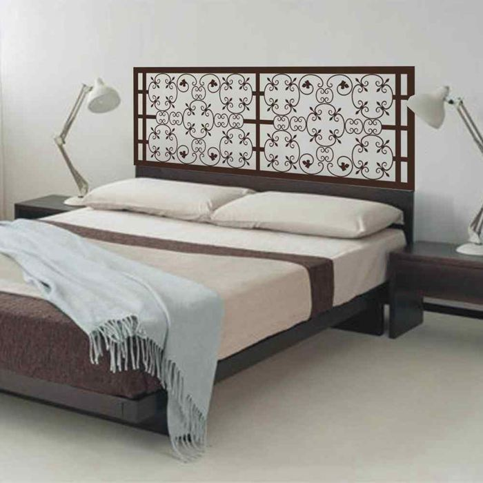 Pleasant Us 12 08 49 Off New Baroque Pattern Style Beautiful Flower Headboard Decal Bedroom Decor Bed Vinyl Wall Sticker Wall Decal Home Wallpaper In Home Interior And Landscaping Staixmapetitesourisinfo