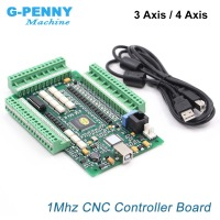 MACH3 4Axis / 3axis USB control board Motion Control Card interface 1Mhz CNC Controller Driver Board for stepper / Servo motor