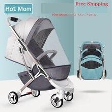 Новая детская коляска Hotmom легкая переносная Складная коляска для путешествий