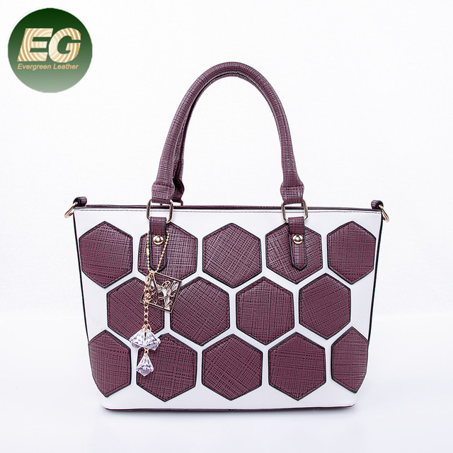 357555cc8241 China online wholesale trendy PU women tote bag big handbag with accessories  SH664