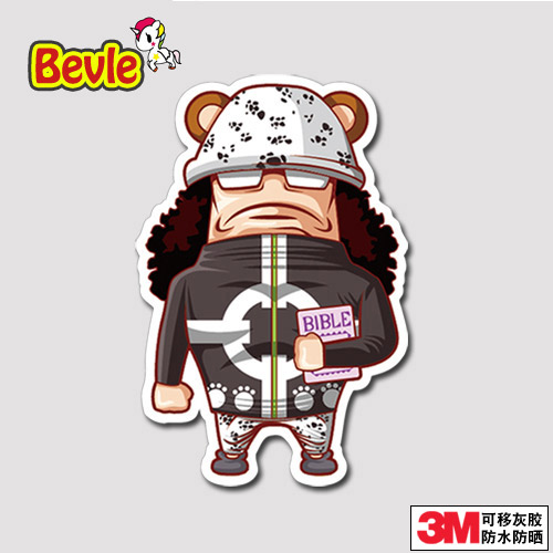 Bevle Bartholemew Kuma Graffiti Luggage Laptop Decal Toys Bike Car Motorcycle Phone Snowboard Doodle Funny Cool 3M Sticker