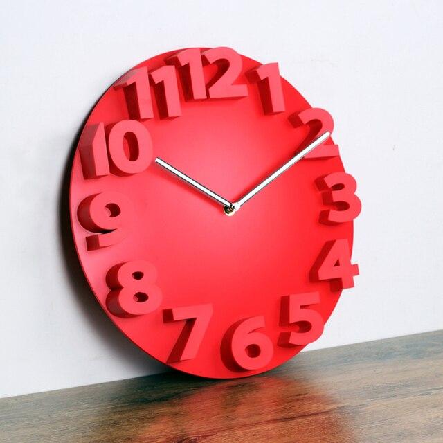 Lớn 3d Round đồng hồ treo tường kỹ thuật số lớn trang trí đồng hồ treo tường thiết kế hiện đại im lặng treo trên tường murale nhà bếp xem chủ trang trí nội thất