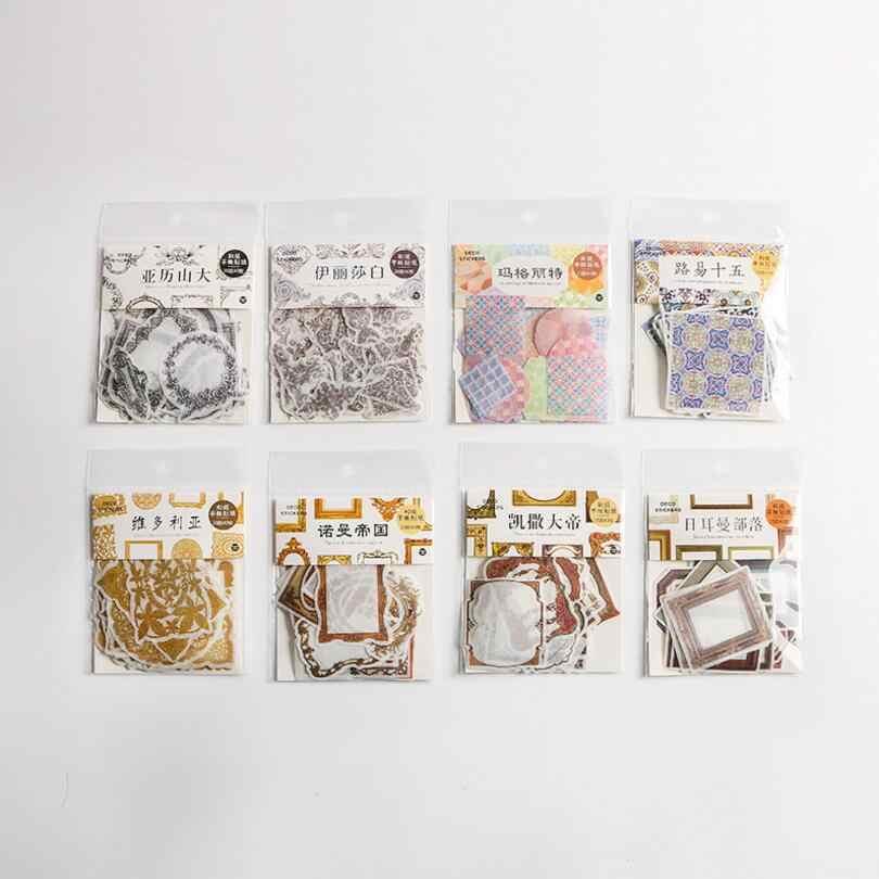 40 шт./пакет Европейская ретро межкадровая линия серии декоративный планировщик самоклеящаяся липкая бумага для заметок закладка для заметок школьные офисные поставки