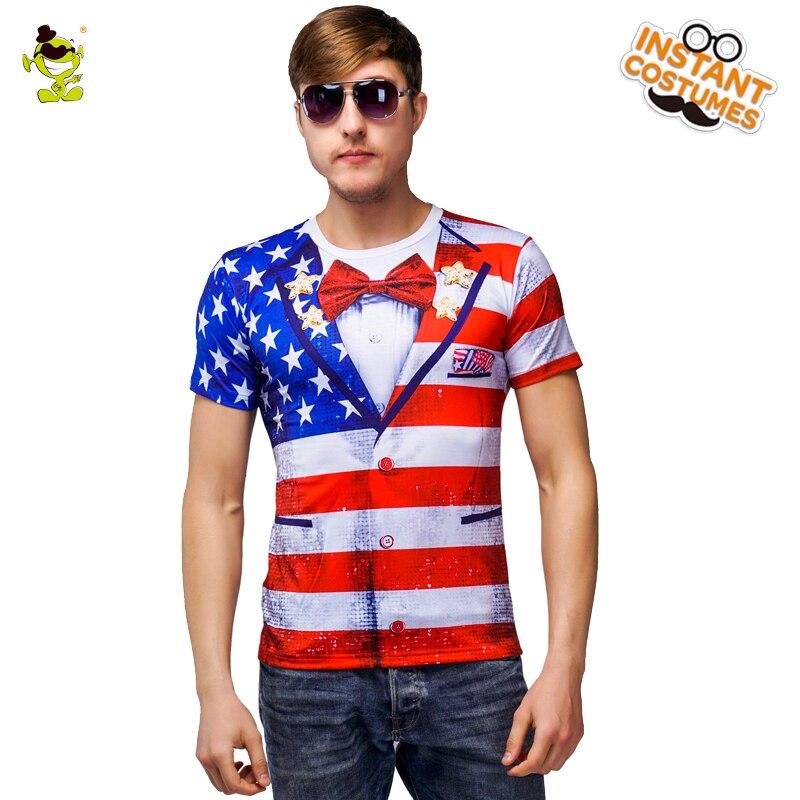 Men's American 3 D Printed T-shirt Design American Style  Cotton Short Sleeve Summer Men's Printing T-shirt