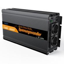 Onda sinusoidal pura CC 24V a CA 220V 1500w 3000w, controlador remoto de pico, inversor de potencia, convertidor de alta calidad