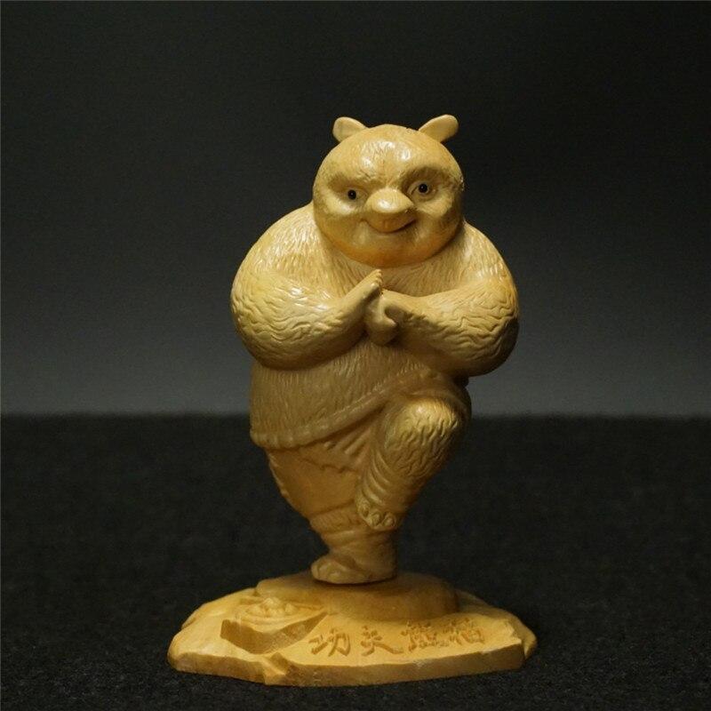Wood New 1pcs Movie Kungfu wooden Kung Fu Panda Panda Po Doll Action Figure Kids Toys Birthday & Holiday Gift For Children