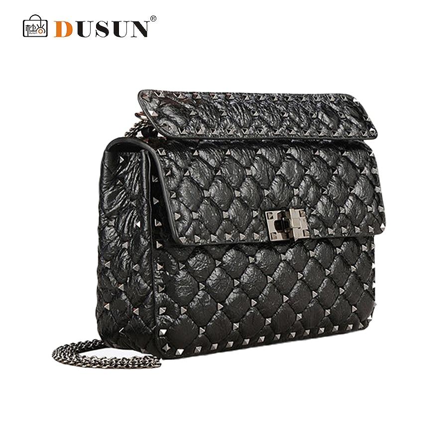 ФОТО Dusun Fashion Design Lattice Messenger Bag Women Casual Clutch Bag 2017 New Vintage Chain Messenger Bag Women High Quality Bags