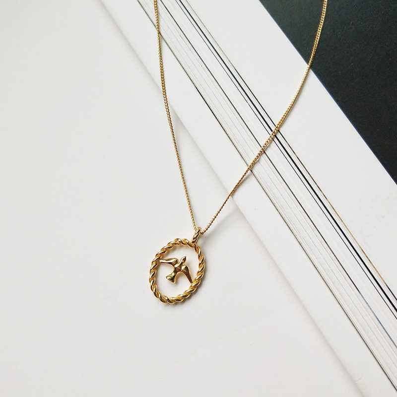 חדש 925 סטרלינג כסף סנונית תליון שרשרת זהב אופנה פראי סנונית ציפורים שרשרת לנשים לבלוע קסמי תכשיטי מתנה