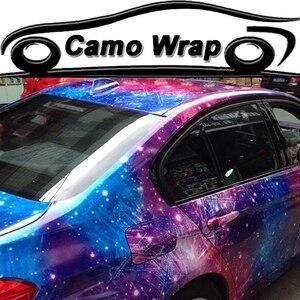 Глянцевая наклейка галактика звездное небо бомба камуфляж автомобиля обертывание Виниловая пленка грузовик автомобиль фольги упаковка 1,52...