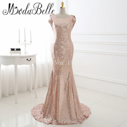 Custom made rose gold bridesmaid dress vestido de madrinha longo sequins party dress trouwjurken robes femmes.jpg 250x250
