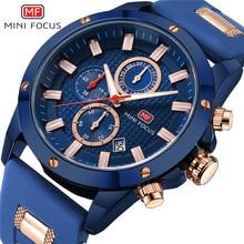 MINI odak erkek kol saati Quartz saat erkekler su geçirmez askeri spor saatler erkekler lüks marka erkek saat Relogio Masculino mavi