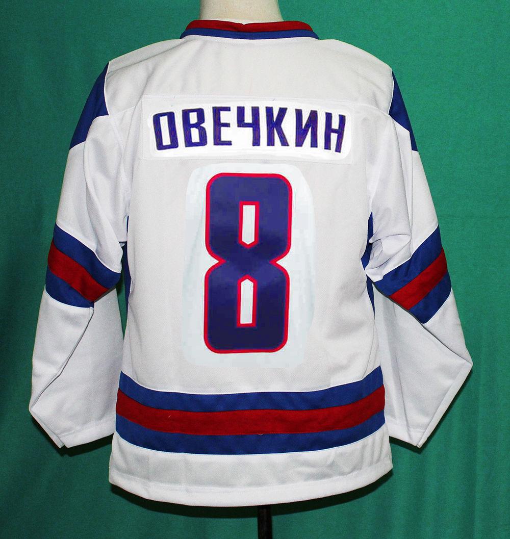 22f3e0a7ff4 Stitched Men's Ice Hockey Alex Ovechkin Jersey