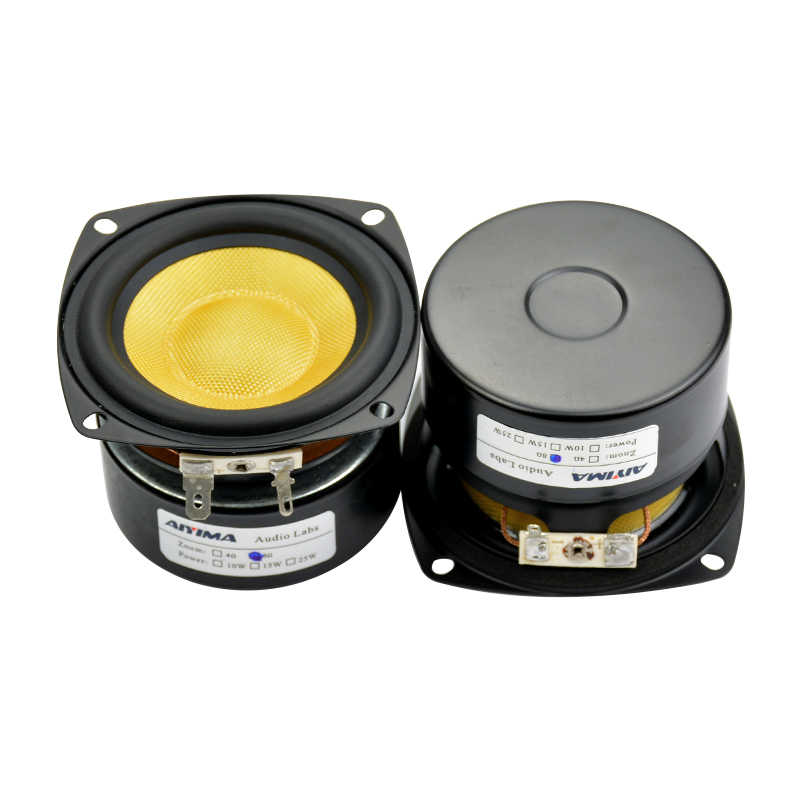 AIYIMA 2Pcs 3 Inch Audio Portable Speakers 4Ohm 25W Glass Fiber Midrange  Bass Speaker DIY For Stereo Home Theater Sound System