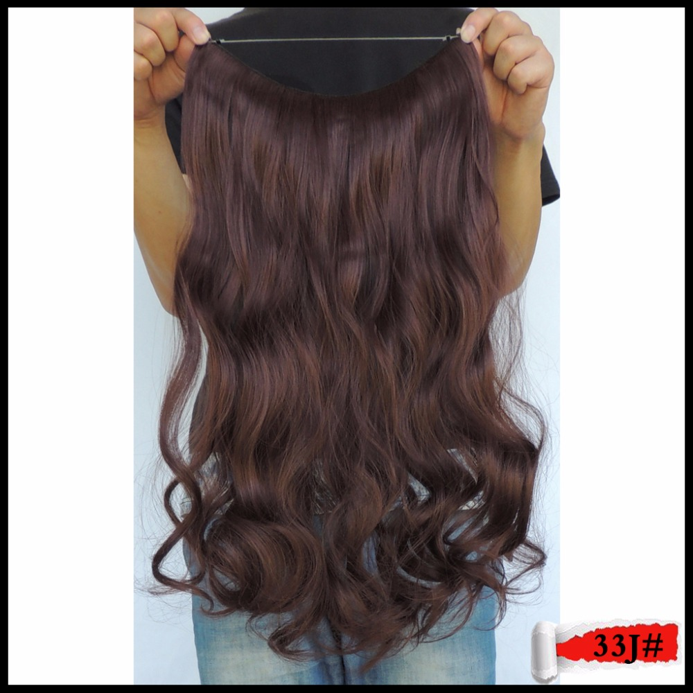 halo hair dye style synthetic fiber curly 20inches 100g style fast hair halo 3018 | Synthetic Fiber Curly 20inches 100g Style Fast Hair Halo Hairpiece Extension Secret Apply Mega Extentions Puce