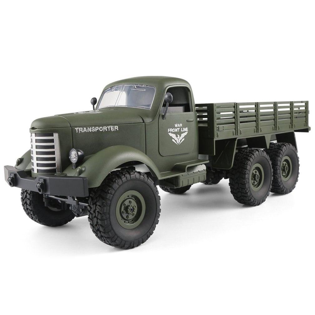 CHAUD! JJRC Q60 2.4G RC 1:16 Machine télécommande 6 roues motrices suivi hors route militaire RC camion électrique jouets pour enfants GI