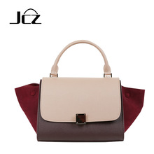 Fashion Women's Brand Bags High Quality Genuine Leather Handbags Elegant Patchwork Portable Bag