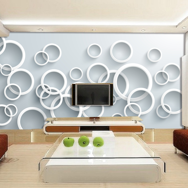 3d stereoscopic large mural custom wallpaper the living room TV backdrop wallpaper bedroom fabric wall paper white circles custom 3d stereoscopic large mural wallpaper bedroom living room tv background fabric wall paper non woven wall painting rose