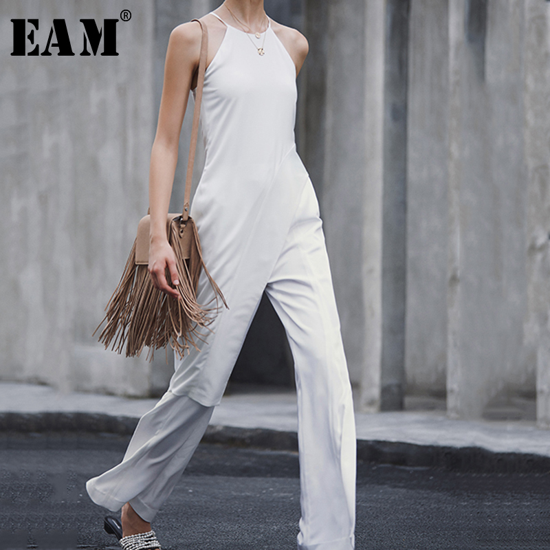 [EAM] Women Hollow Out Causal Simple Tank Tops New Hang Sleeveless Personality Fashion Tide All-match Spring Autumn 2019 JZ468