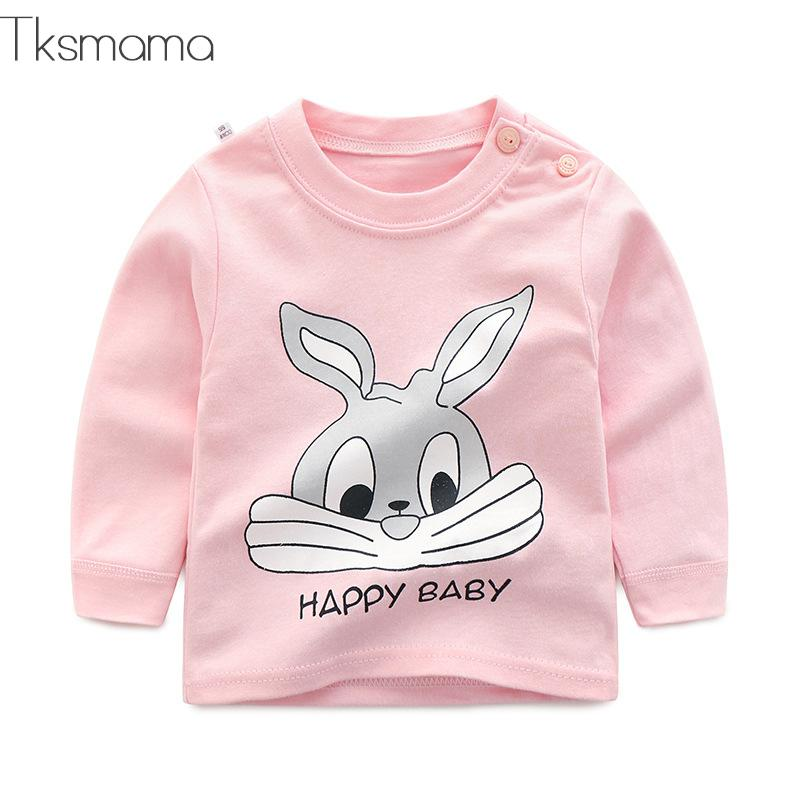 Brand Baby Long Sleeve Girls T-shirts  Kids Clothes Clothing Child Rabbit Print Costume Top Tees(China)