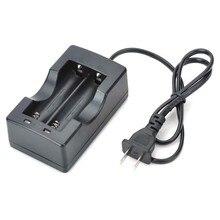 Зарядное устройство с двумя слотами для США 18650, универсальное зарядное устройство для литиевых аккумуляторов 18650(100-240 В), Аксессуары для фонарей