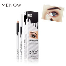 MENOW Soft Eye Liner Pen Brightener White Eyeliner Pencil Makeup Waterproof Smooth Easywear White Eyeliner Women Cosmetics(China)