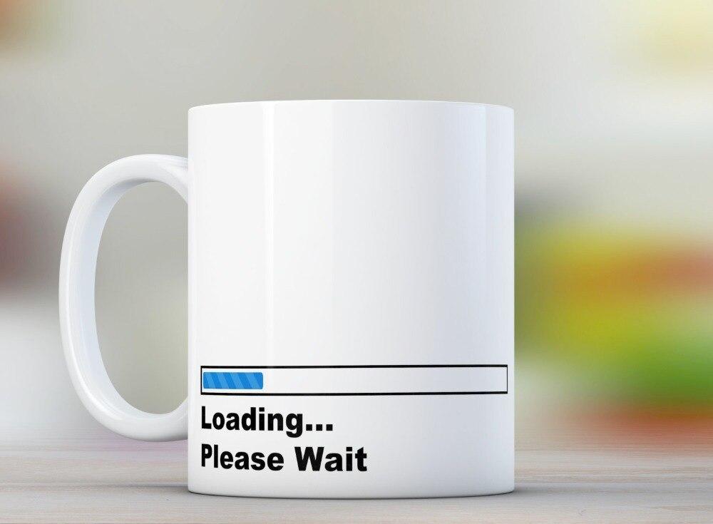 funny loading font b geek b font Mugs home decal Tea art friend gift wine milk