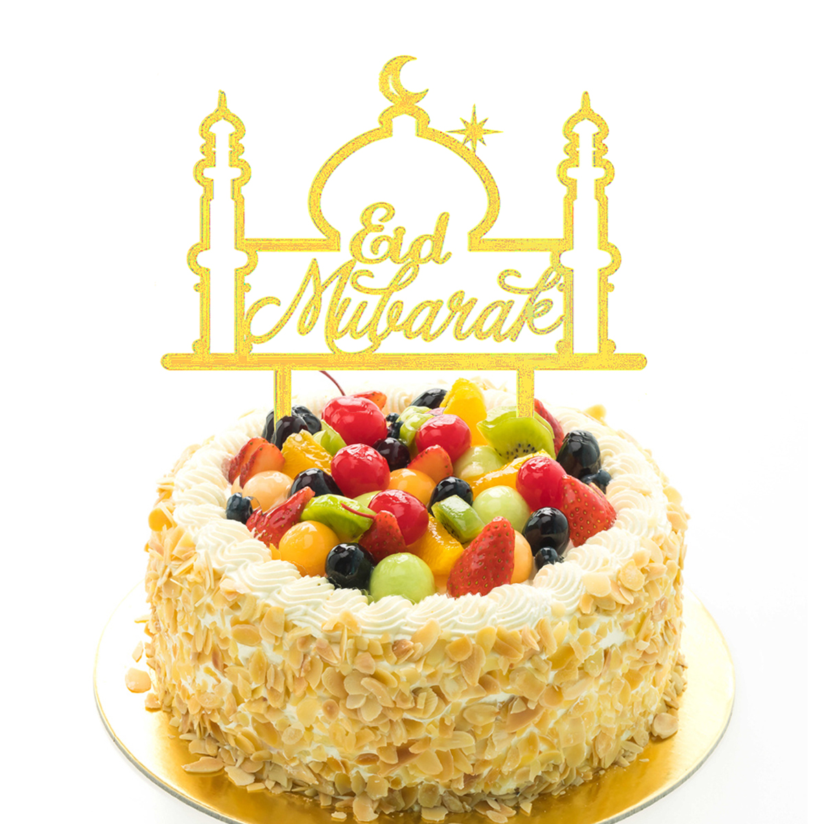 Ramadan Decoration Eid Mubarak Cake Topper Wedding Birthday Muslim ...