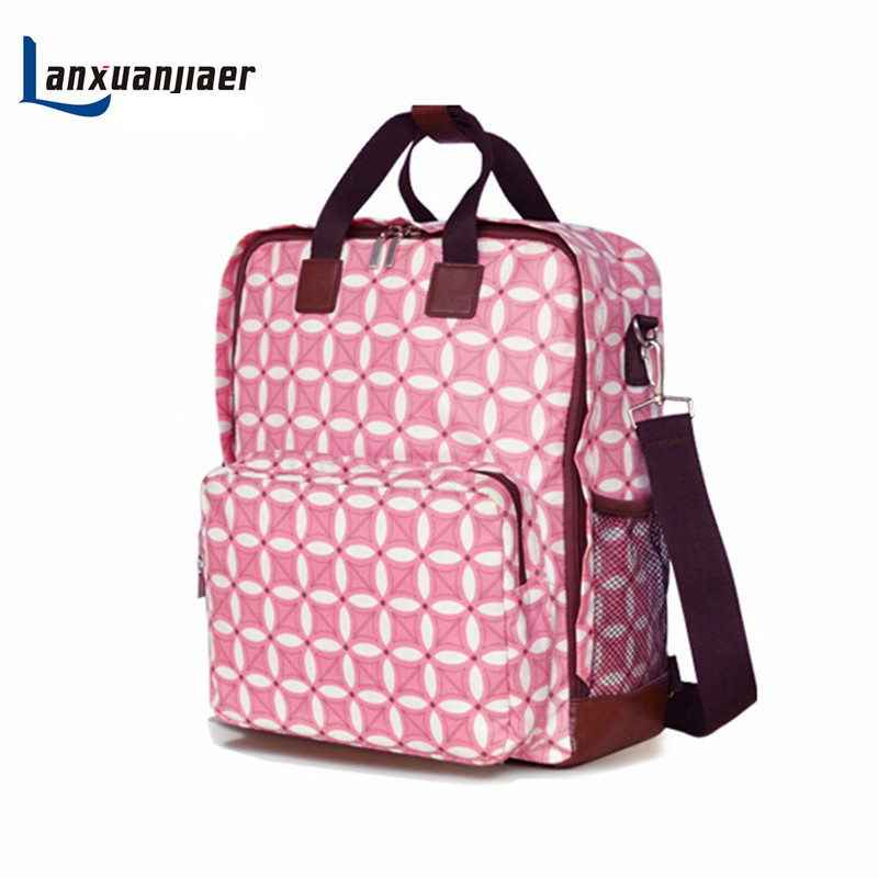 где купить Mummy bag shoulders multifunctional backpack Pregnant women bag Large capacity nappy bag baby diaper bags bolsa de para bebe дешево