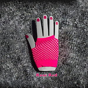 Neon Short Fishnet Gloves...