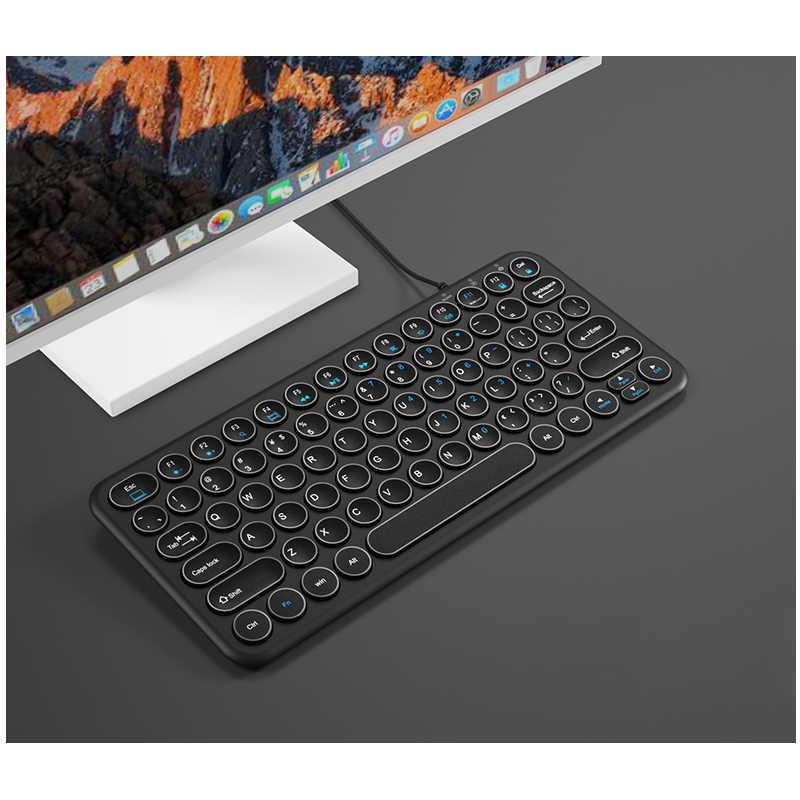 B.O.W 78 キー有線 USB ミニスリム Pc 、コンピュータ、ノートブック、ラップトップ、ネットブック、 windows 8 7 XP Vista 、黒