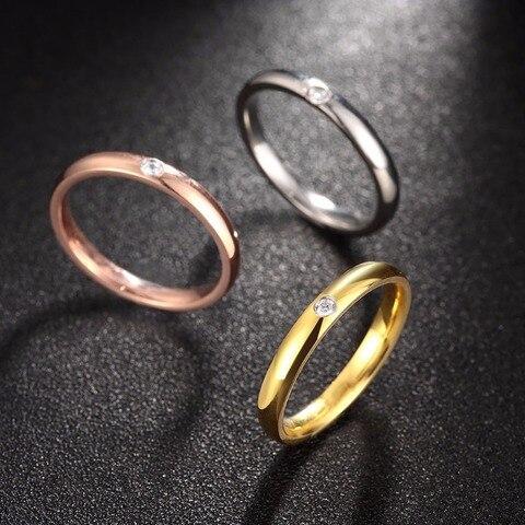 Модные ol стильные женские кольца из нержавеющей стали с кубическим